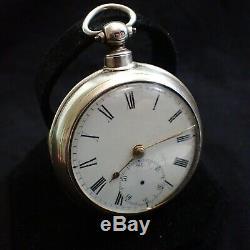 Silver Case Pair Alexander Moore Fusee Pocket Watch c1861 Cumnock Scotland