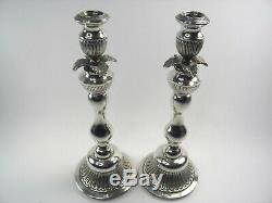 Silver candlesticks pair. 925 sterling vintage mid 20th century Continental