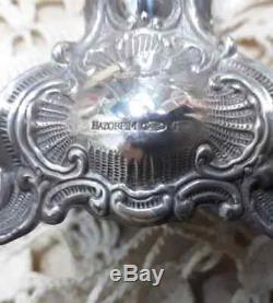 Sterling Silver Candlesticks Pair Vintage Hazorfin Height 15CM Israel Gift Rare