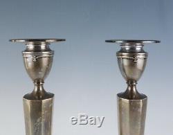 Superb Pair Vintage 1930 Gorham Sterling Silver Candlesticks No Monogrammed