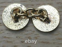 Superb Pair of Vintage Gold on Silver Enamel Cufflinks by Theo Fennell