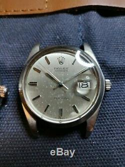 TWO Vintage Rolex Oysterdate Precision 6694 Stainless 34mm Date Watches PAIR