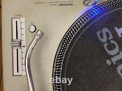 Technics SL1200-MK3D × 2 Turntable Pair Dj Silver Direct Player Vintage Rare