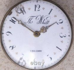 Ths Whitt 1800s Vtg Pair Case Verge Fusee Early Engine Turning Parts/Restoration