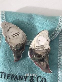 Tiffany & Co. Vintage 1980s Sterling Silver Pair Clip On Earrings