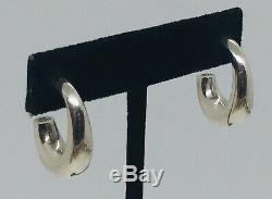Tiffany & Co. Vintage Pair Sterling Silver Hoop Earrings