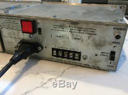 UREI LA-4 Vintage Compressor Limiter Racked Pair/Silver Face Unbeatable Sound