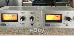 Urei LA-4 Vintage Compressor Limiter Racked Pair Silver Face