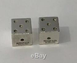 VERY RARE! Vintage Tiffany & Co. Sterling Silver. 925 Gambling Game Dice Pair