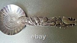 VINTAGE 950 Sterling Silver Pair Of CHINESE FRUIT SPOONS