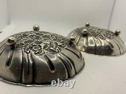 VINTAGE ANTIQUE S KIRK & SON STERLING SILVER 431 PAIR OF FOOTED BOWLS 11.22 oz