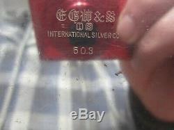 VINTAGE Pair of 2 International Silver 3 Arm Twisted Candelabras EGW&S 503