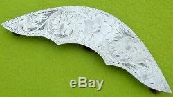 VOGT Vintage UNUSED Pair Solid STERLING Silver CORNER PLATES Show Saddle Trim