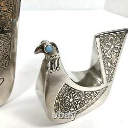 VTG Joaquin Taller Tinta Pair Of Doves Equador Silver RARE