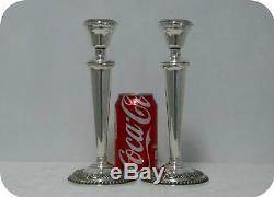 VTG Pair Candlesticks N284 Pretty International American Sterling