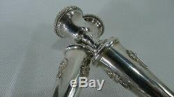 Vintage 187 grams Sterling Silver Filigree decorated Pair of CandleStick Holders