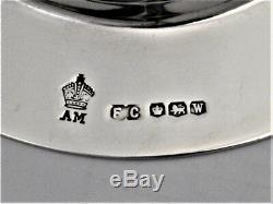 Vintage 4 Piece Silver Communion Set Chalice Paten & Pair Of Cruets Hm 1939