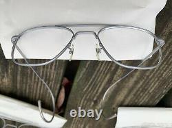 Vintage American Optical Aviator Sunglasses Three Pair Frames Silver Matte