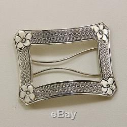 Vintage Art Deco Tiffany & Co. Sterling Silver Barrettes Pair