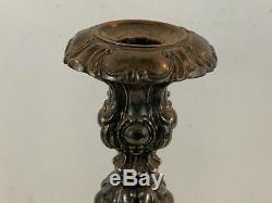Vintage Barbour Silver Co. Pair of Silver Plate Candlesticks 6875