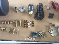 Vintage Chrome Hadley Air Horn Pair / Kit Unused Hadley Ambassador Air Horn Kit