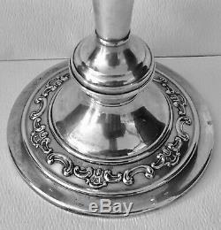 Vintage GORHAM STERLING Silver Candelabra STRASBOURG 1130 Convertible PAIR Set 2