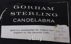 Vintage Gorham Sterling 808 Candelabra, Pair