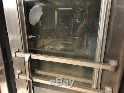 Vintage INDUSTRIAL DOORS pair Stainless Steel diner loft exterior front 40s 50s