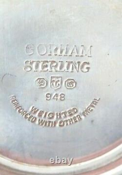 Vintage Matching Pair Gorham Sterling Silver Squat Candlesticks #948