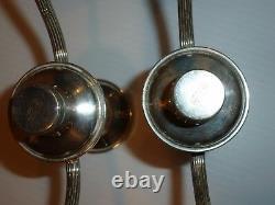 Vintage Mueck Carey Royal Rose Sterling Pair 3-Branch Convertible Candelabra
