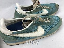 Vintage Nike Waffle Trainers Shoes Lot Of 2 Pairs 80s Silver Black Aqua As Is