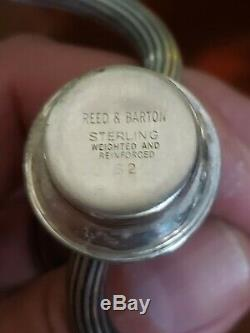 Vintage PAIR Reed & Barton 13 Sterling Silver 3 light Candelabra Candlesticks