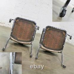 Vintage Pair Art Deco Streamline Modern RCA Victor Advertising Chairs by Chromcr