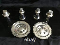 Vintage Pair Convertible Gorham Silver Co. Sterling Candlesticks Strasbourg Patt