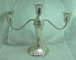 Vintage Pair Duchin Sterling Silver 3 Lights Candelabras