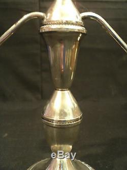 Vintage Pair Duchin Sterling Silver 3-lite Candelabra / Candlesticks