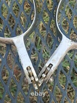 Vintage Pair Fleming Silver Spurs