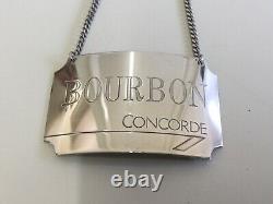 Vintage Pair Of Concorde Sterling Silver Labels Rye & Bourbon Birmingham 1986