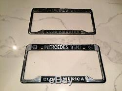 Vintage Pair Of Mercedes Benz Club Of America License Plate Frame