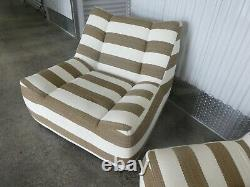 Vintage Pair Of Superb Quality Italian Style Designer Lounge Chairs
