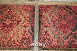 Vintage Pair Spancraft Designer Chrome Upholstered Benches Ottomans Stools