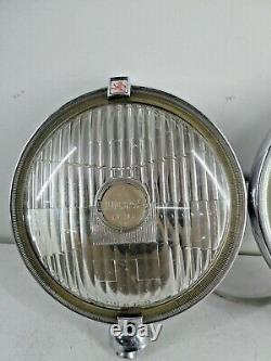 Vintage Pair of Classic Car Lucas FT/LR 10/11 Silver Sabre Spot Light Lamps A12