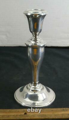 Vintage Pair of Gorham Sterling Silver Weighted Candlesticks 815/1 NICE