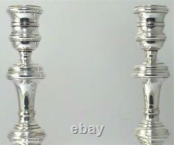 Vintage Pair of Hallmarked Sterling Silver Candlesticks (6 ¾ tall) 1977