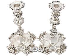 Vintage Pair of Irish Sterling Silver Candlesticks George III Style