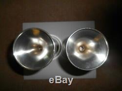 Vintage Pair of Preisner #4 Sterling Silver Goblets 6 3/4 Tall