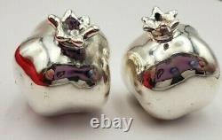 Vintage Pair of Sterling Silver 925 Pomegranate Figurines (#314)