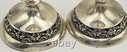 Vintage Pair of Sterling Silver Candlestick Holders by Mueck-Cary #6995