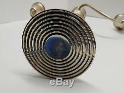 Vintage Preisner 833 Sterling Silver Weighted Triple Candelabra Pair 12 Tall