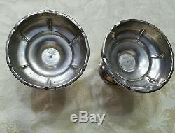 Vintage Sanborn Stylized Pair of Sterling Candleholders Candlesticks Mexico